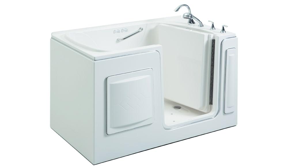 A bariatric walk-in tub in a bathroom
