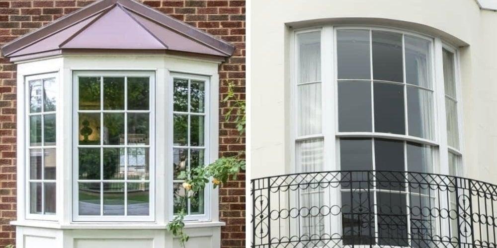 Bay window vs. bow window
