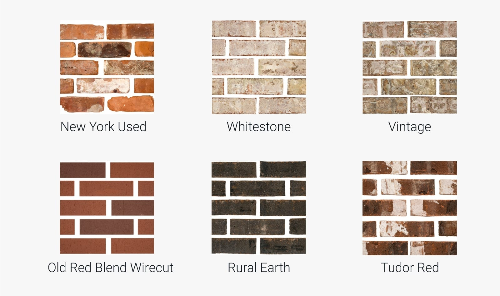 Different types of brick siding