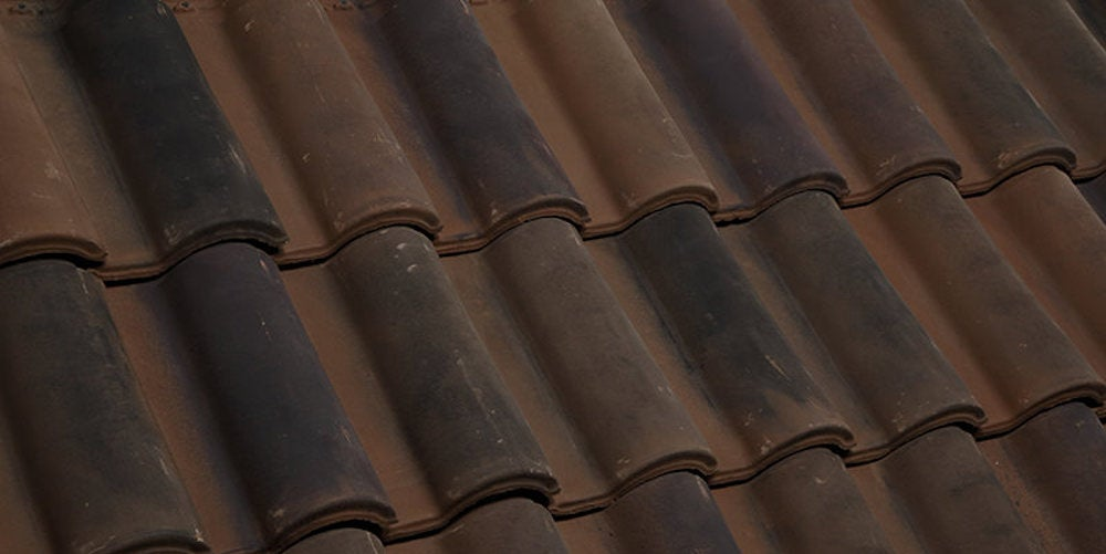 Brown-dark Spanish tiles