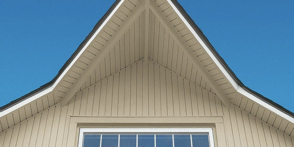 Charter Oak Soffit and Vertical siding on a residential home