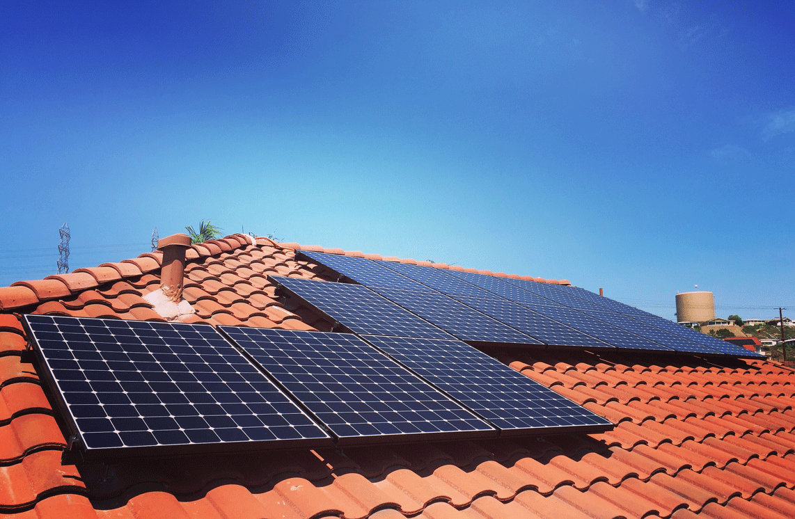 clay tile roof solar