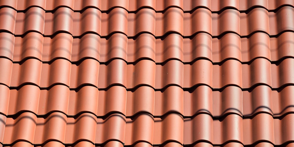 Clay tiles on a roof