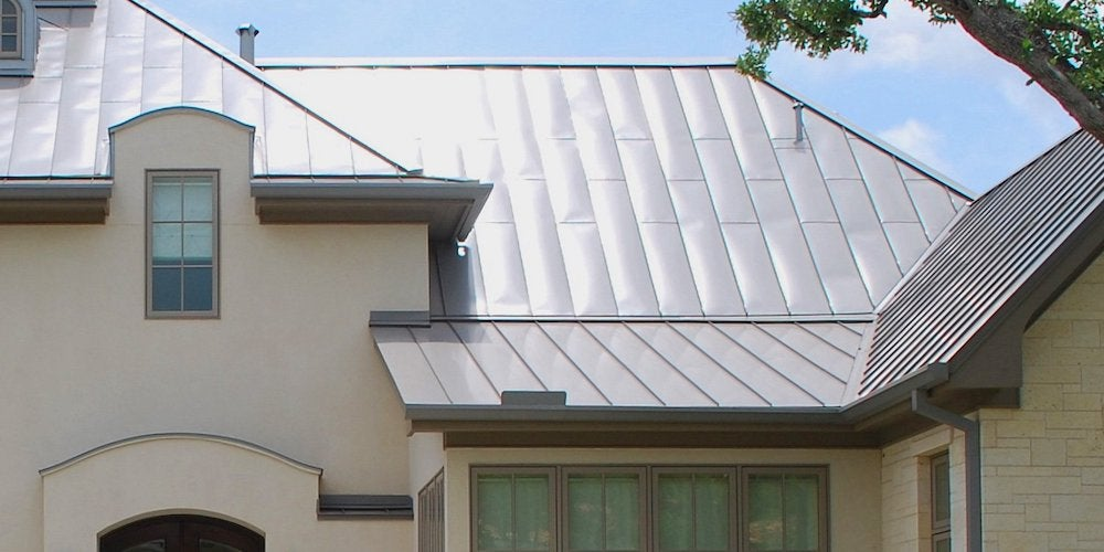 Metal roofing on a residential home