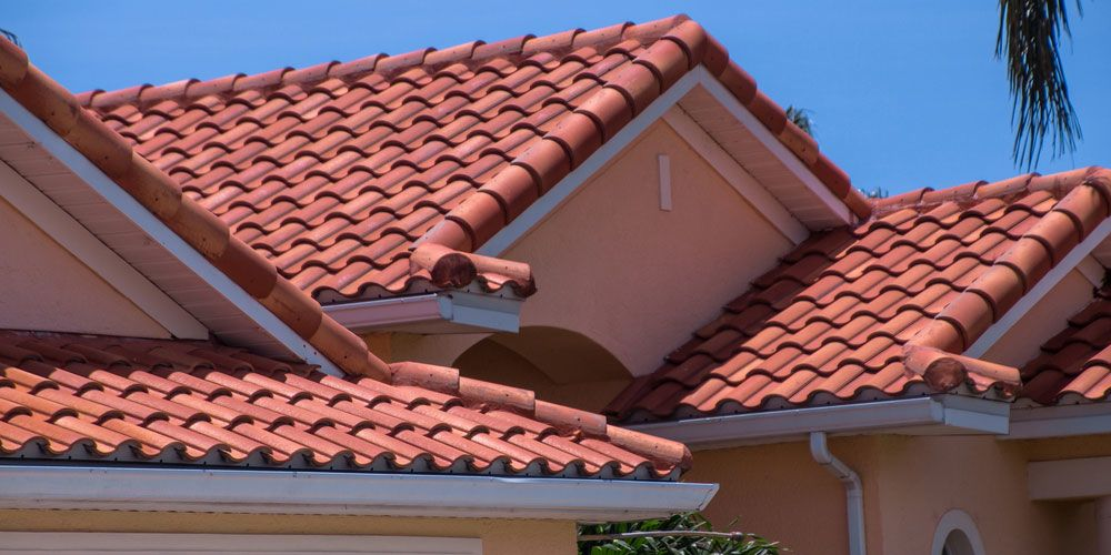 Tile roofing on a residential home