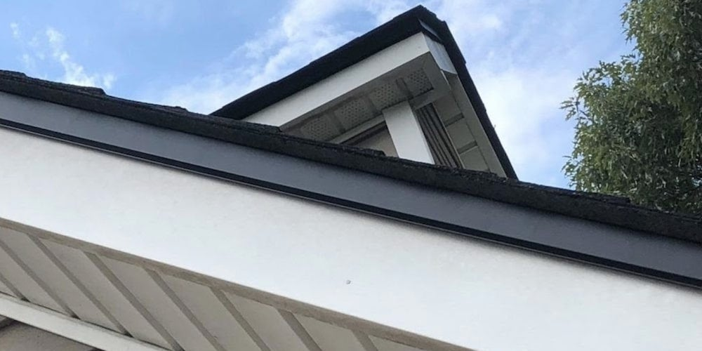 Drip edge flashing on a residential roof