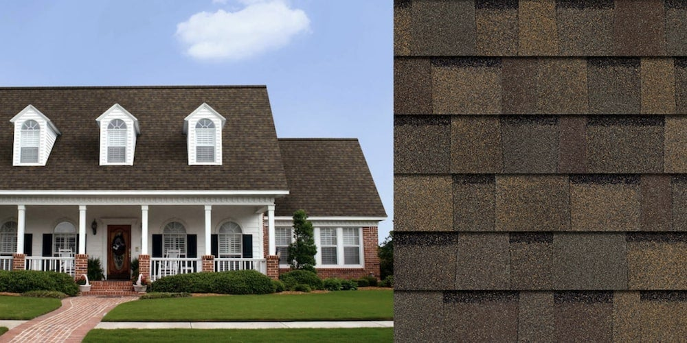 Duration shingles on a residential home
