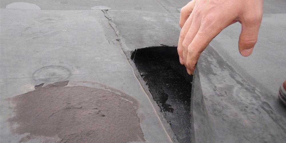 Fresh leak on a flat roof
