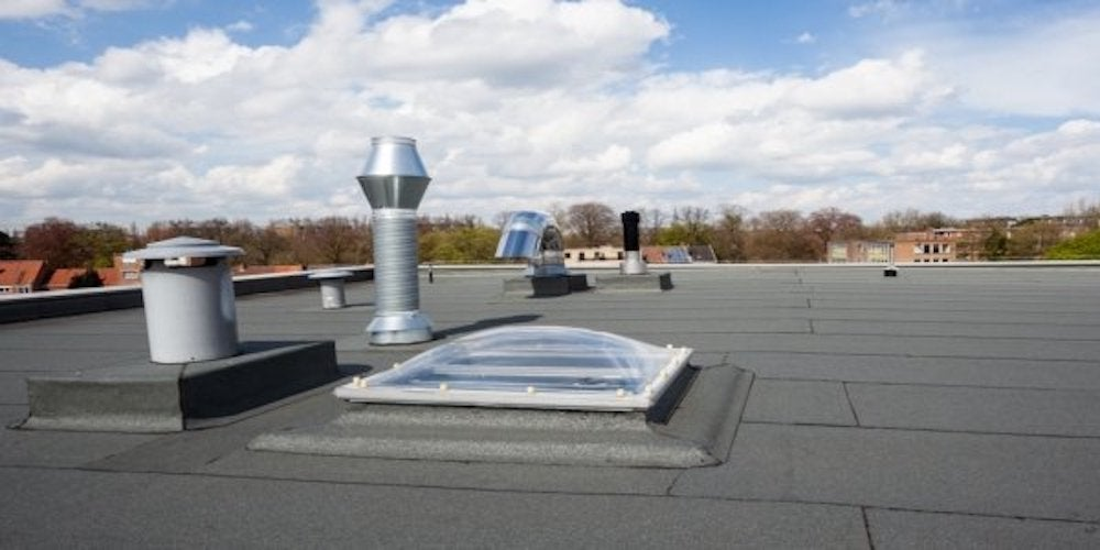 Vent pipes on a flat roof