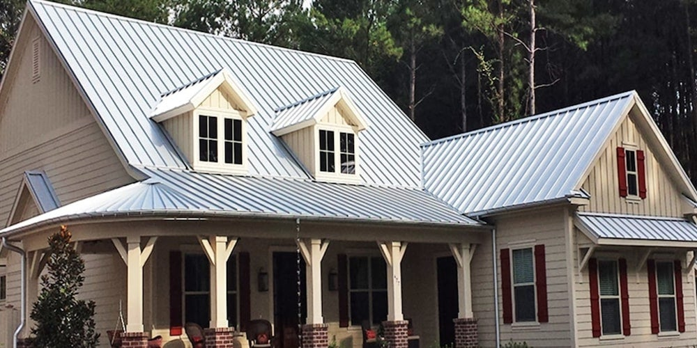 Galvalume roof on a residential home