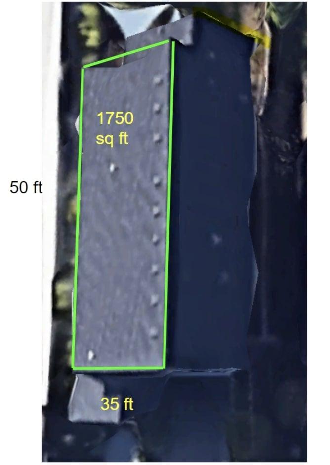 Google Earth roof measurements