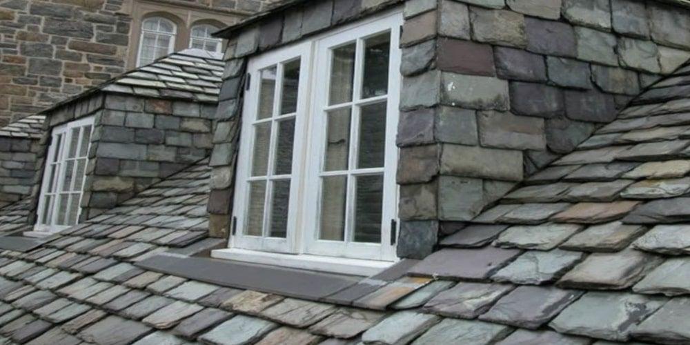 Graduated length slate roof