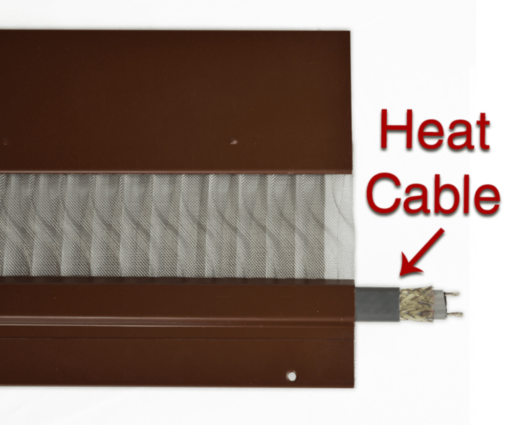 Gutter heat cable