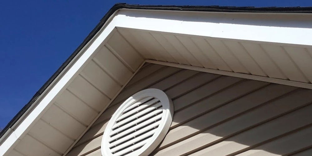 Attic ventilation on a residential home