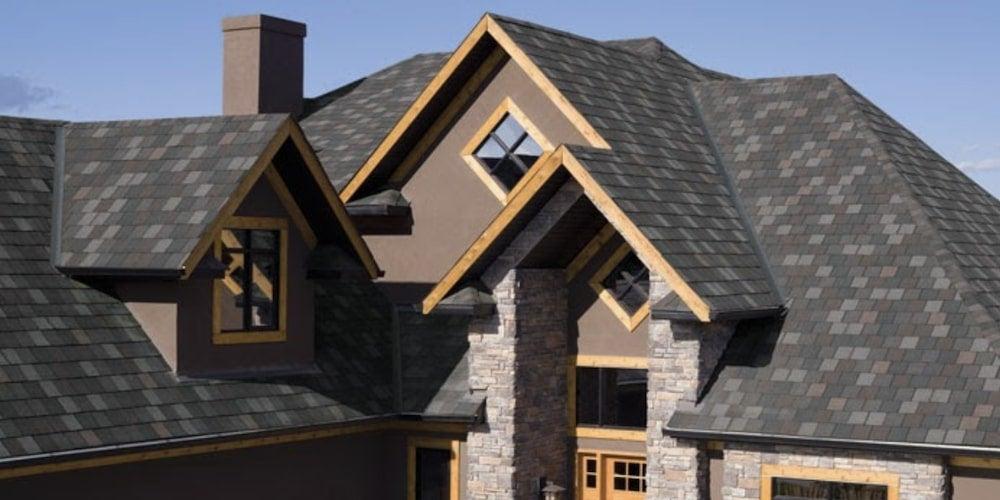 IKO shingles on a suburban roof