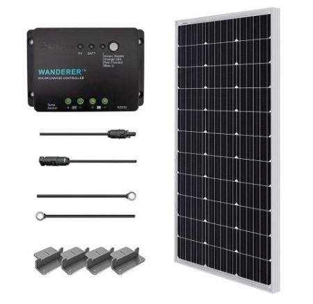 composants du kit solaire portable 100 watts renogy solar