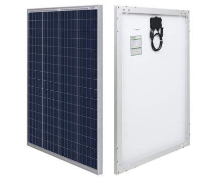 rendu numérique du panneau solaire portable hqst 100 watts