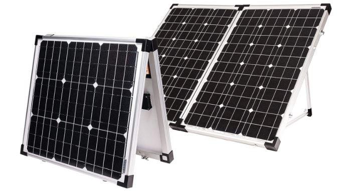 rendu numérique de gopower!  kit de panneau solaire portable