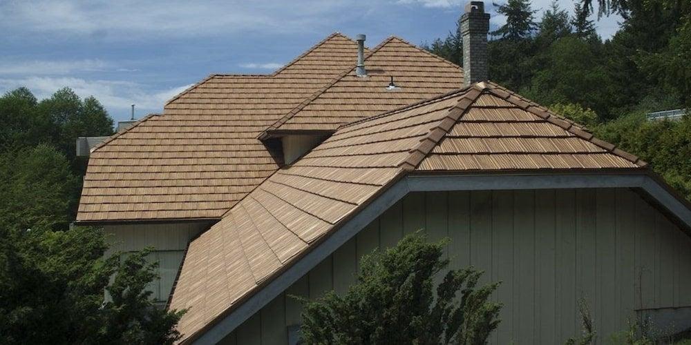 Interlock cedar metal shingles