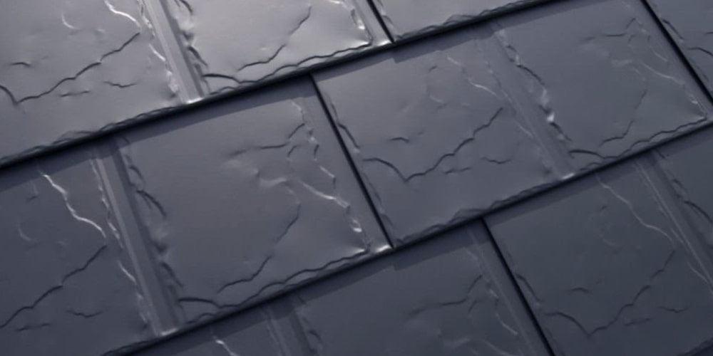 Interlock slate shingles side by side