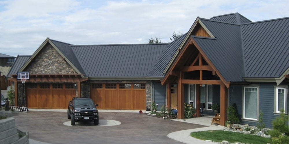 Interlock standing seam roof on a residential home
