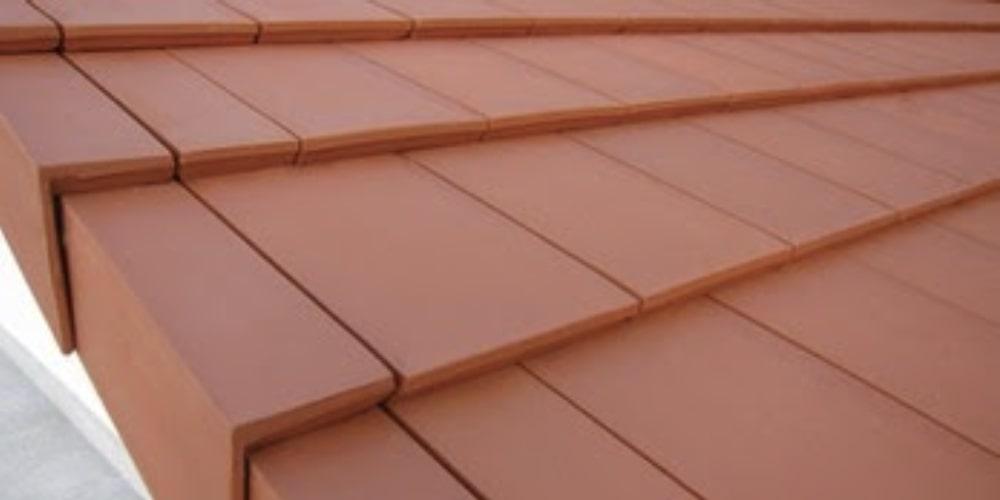 Interlocking shingle clay tiles