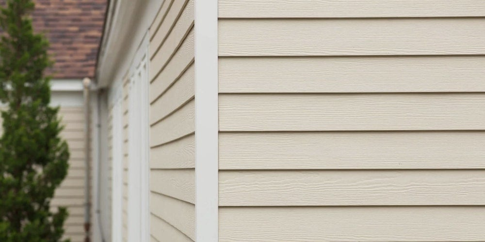 Siding on a residential home
