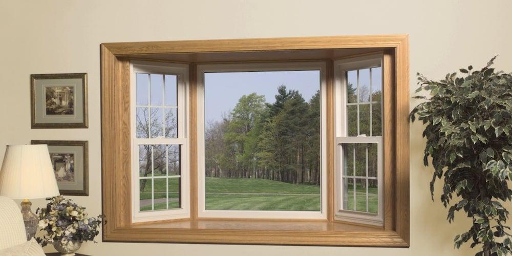 Jeld-Wen bay window looking over a lawn