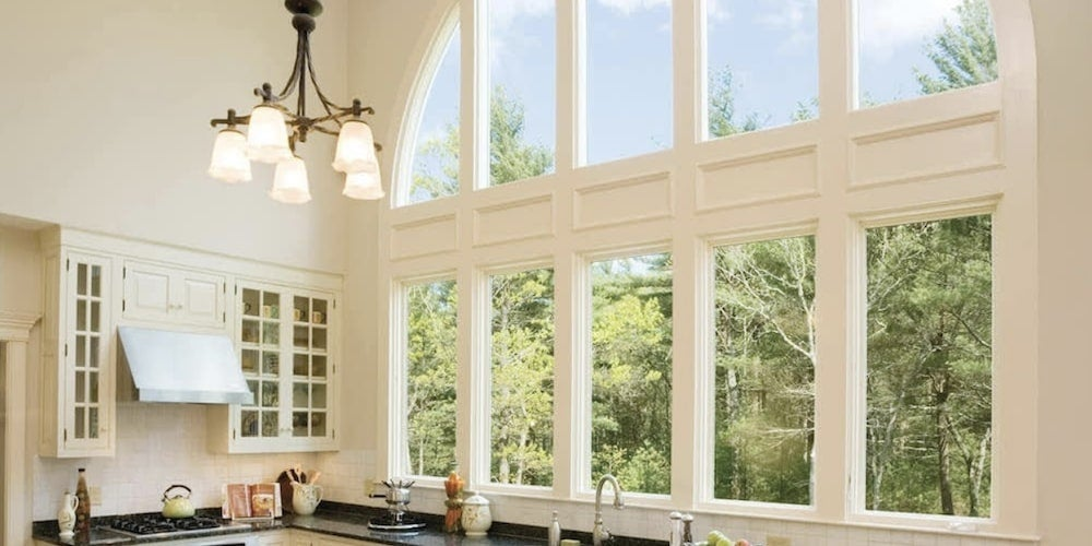 JELD-WEN picture window in a kitchen