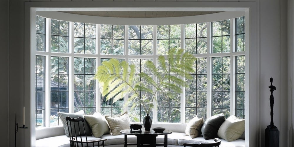 Light coming in through a bay window