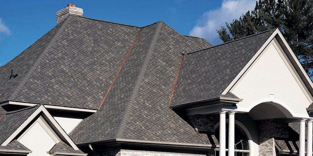 Luxury shingles on a residential home