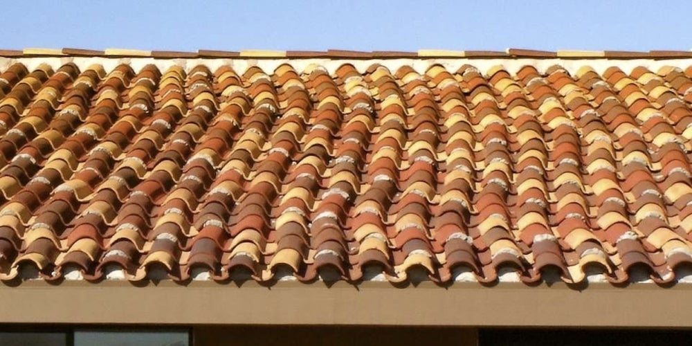 Mission style clay tiles