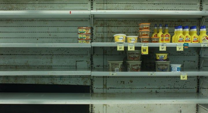 empty shelves after the apocalypse