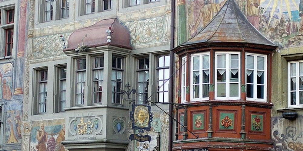 Oriel windows on a historical property
