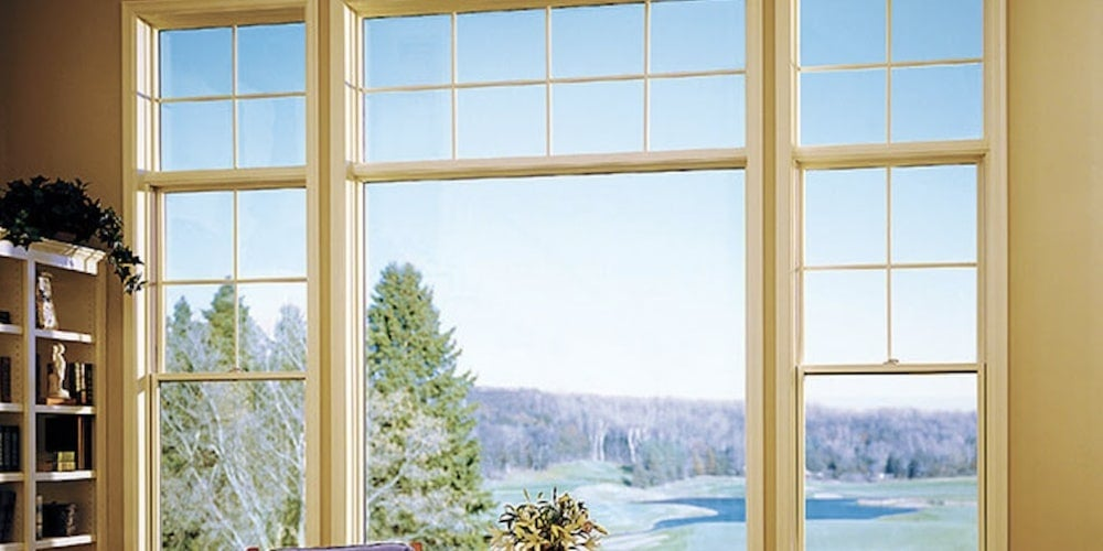 Pella picture window in a sitting room
