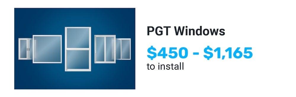 PGT windows price