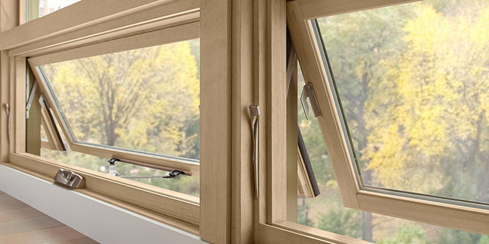 Anwing windows opening up into a neighborhood