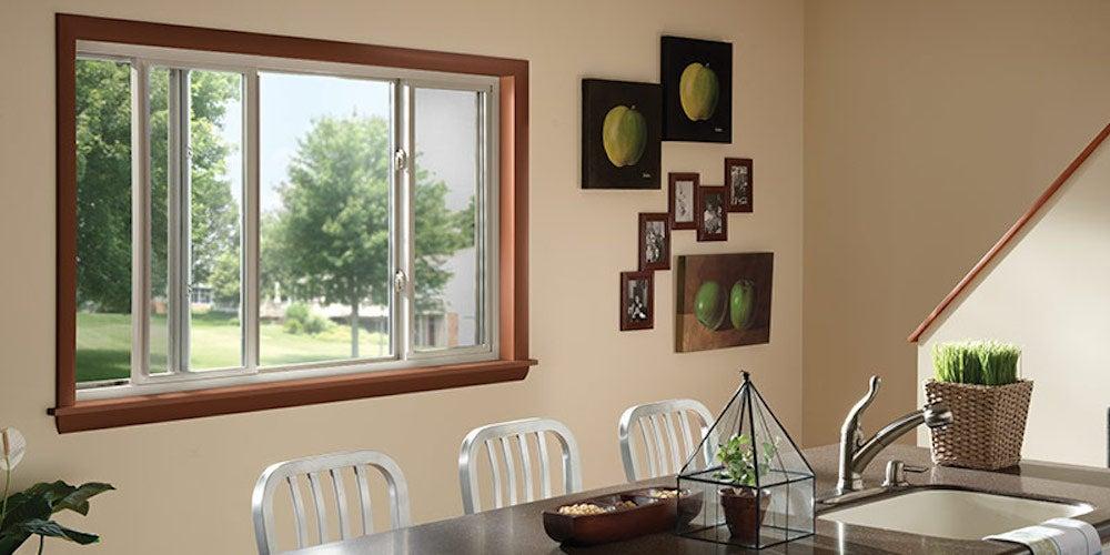 Sliding windows in a kitchen