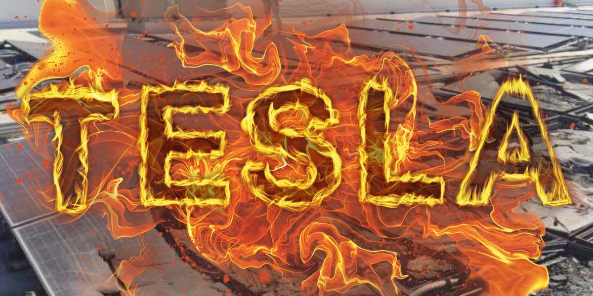 Tesla's solar business in flames