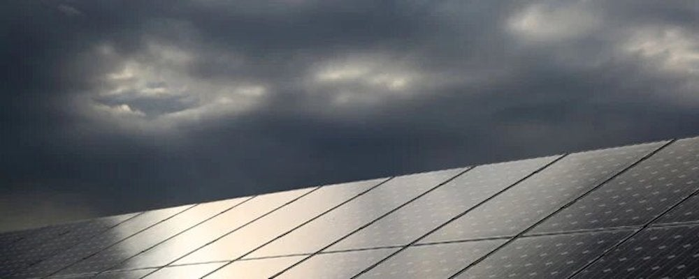 Stormy solar panels