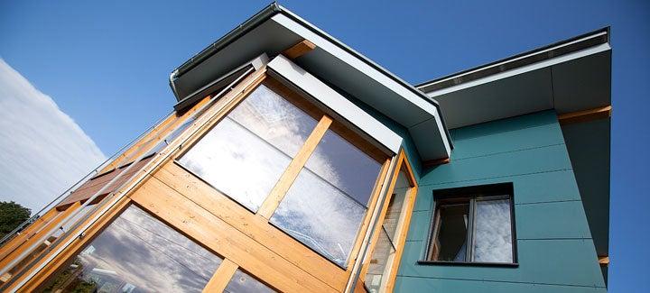 a home with passive solar design