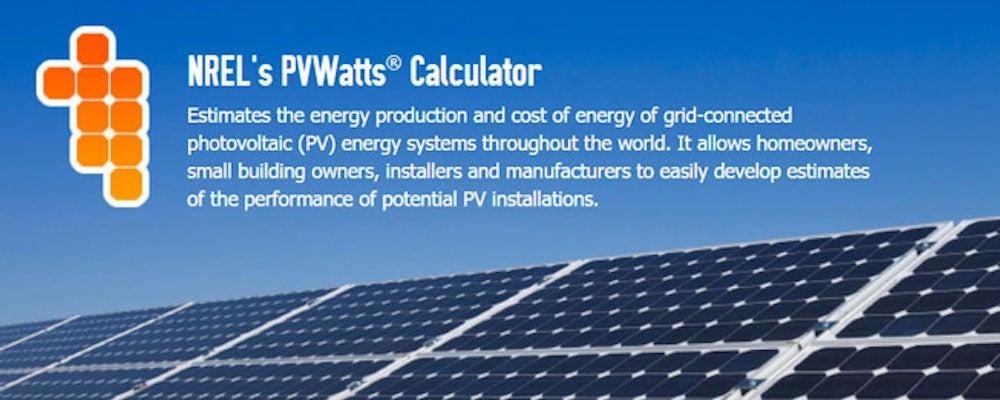 NREL's PWatt's Calculator
