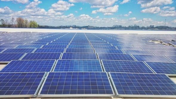 large solar panel array