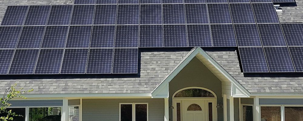 Panasonic EverVolt Solar Panel Modules on a home