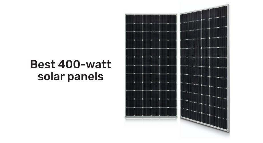 Two sleek black 400 watt solar panels