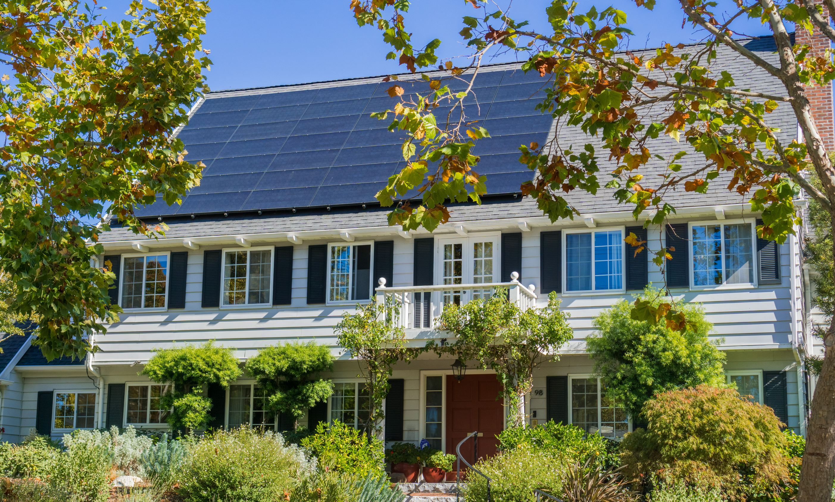 A home with solar panels installed
