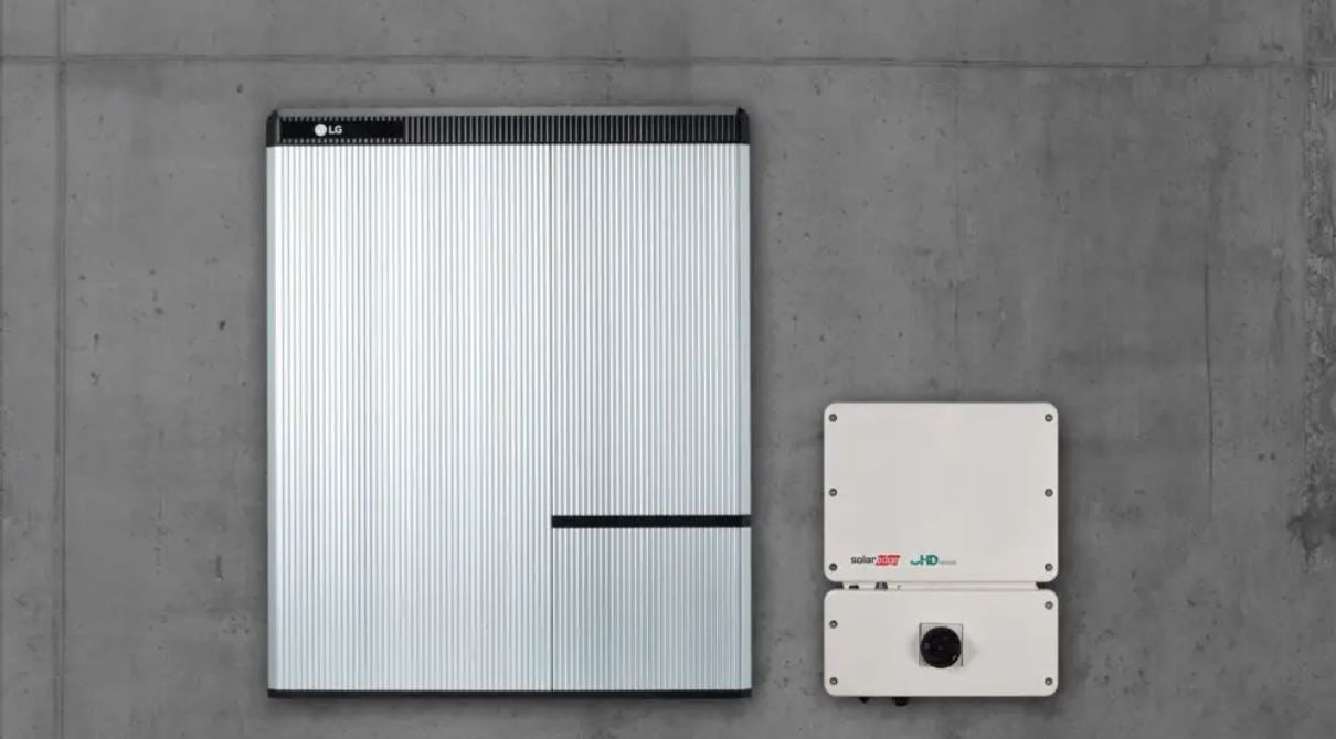 solar battery mounted on a wall