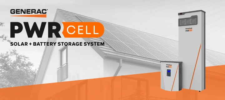 The Generac PWRcell home battery and inverter.