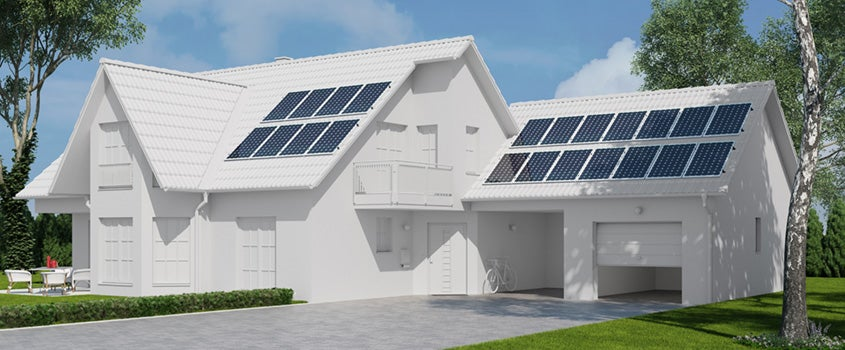 6 kW solar panel system. 17 - 22 solar panels