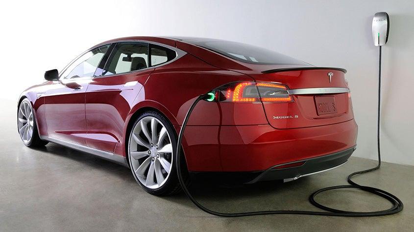 Tesla S Model charging
